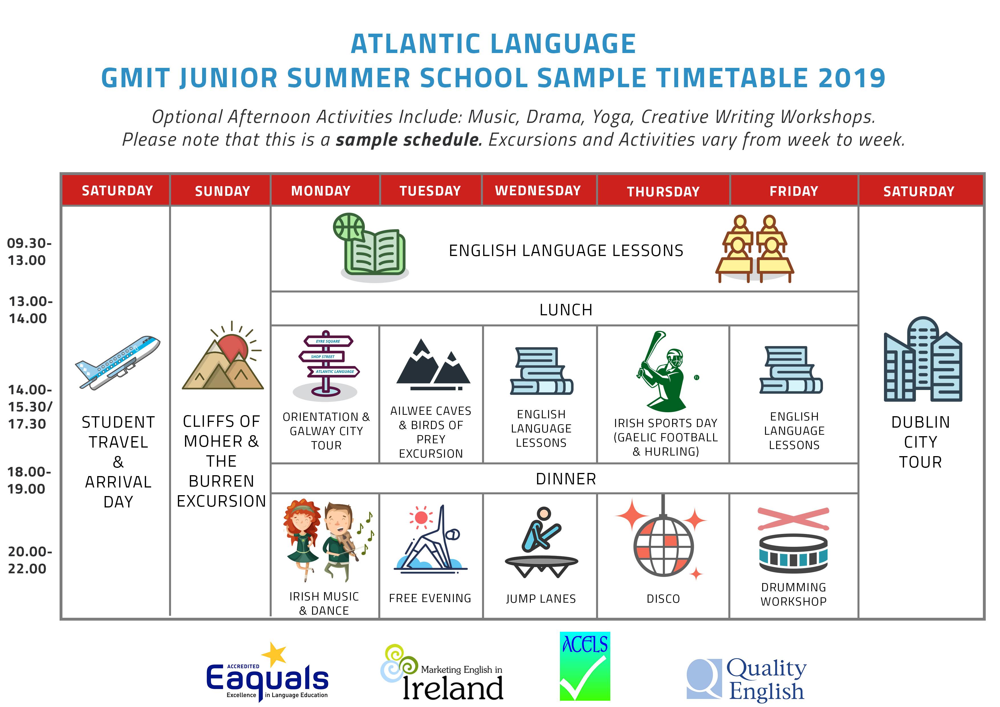 Junior-Summer-Programme-2019-Sample-Timetable